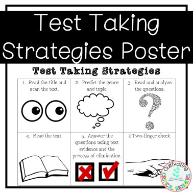 Test Taking Strategies Poster