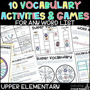 Vocabulary Activities and Games for any word list